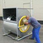 industrial floor mounted blower